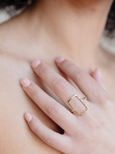 Natasha Rectangle Ring Gold