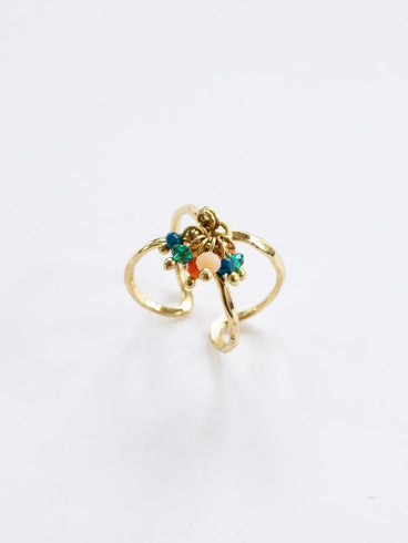 Beaded Cluster Ring