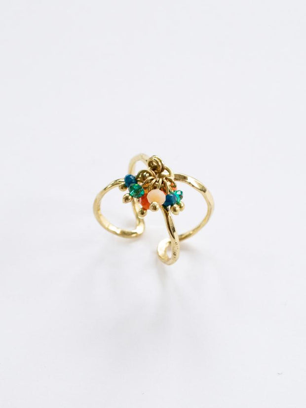Beaded Cluster Ring Multi