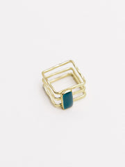 Cubist Ring Navy