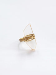 Cut Gem Ring Transparent