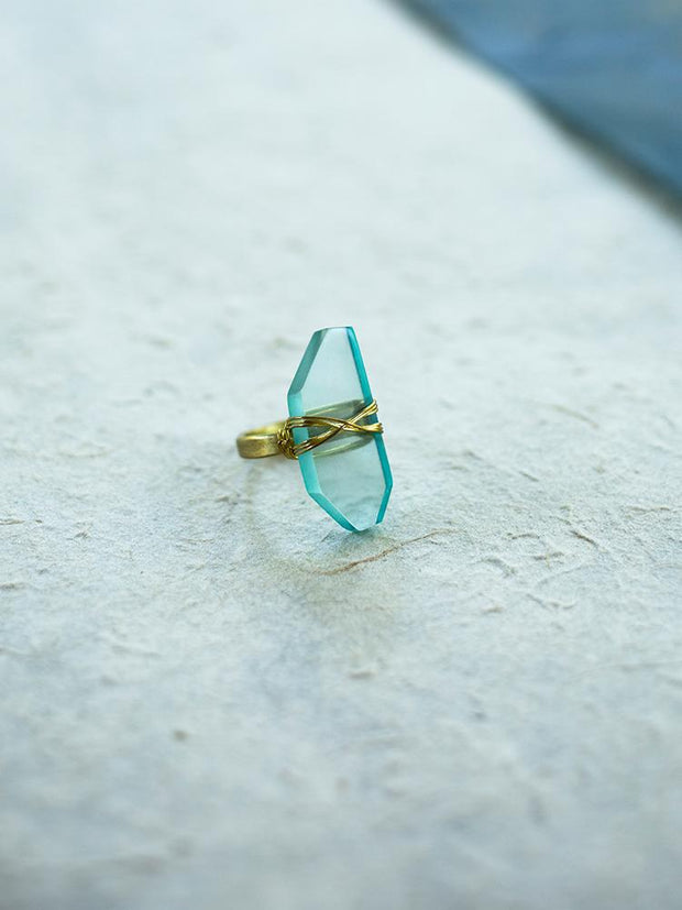Cut Gem Ring Turquoise