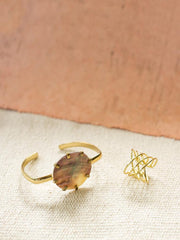 Layered Oval Ring Gold