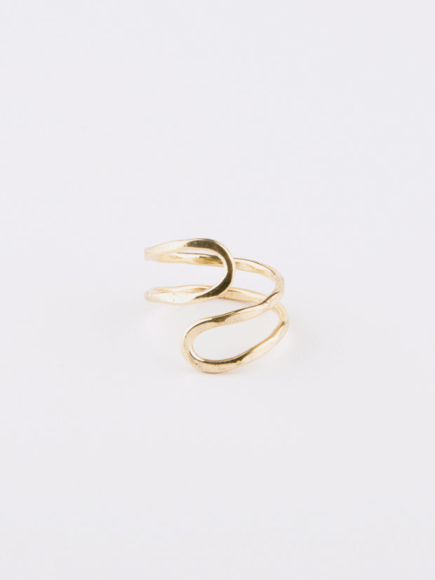 Meander Ring Gold