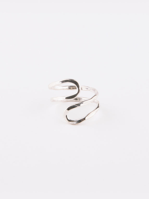 Meander Ring Silver