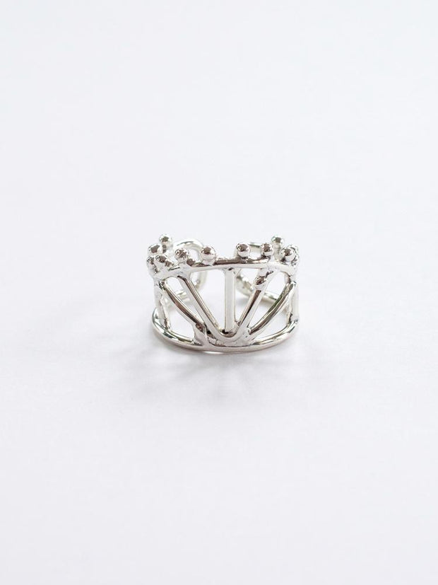 Petit Crown Ring Silver