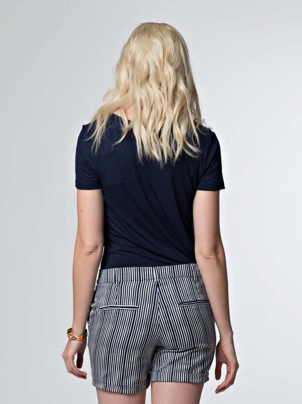 Montague Shorts Navy Stripes