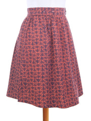Bailee Button Skirt Triangles