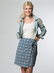Camano Wrap Skirt Blue Tile