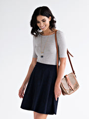 Carmella Swing Skirt Indigo