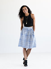 Etta Skirt White/Blue
