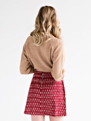 Harper Skirt Crimson
