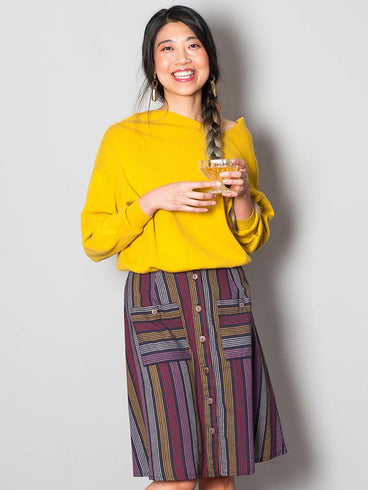 High Line Skirt Multi Stripe