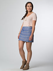 Ikat Mini Skirt Chevron Ikat