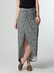 Nadina Wrap Skirt Black Lines