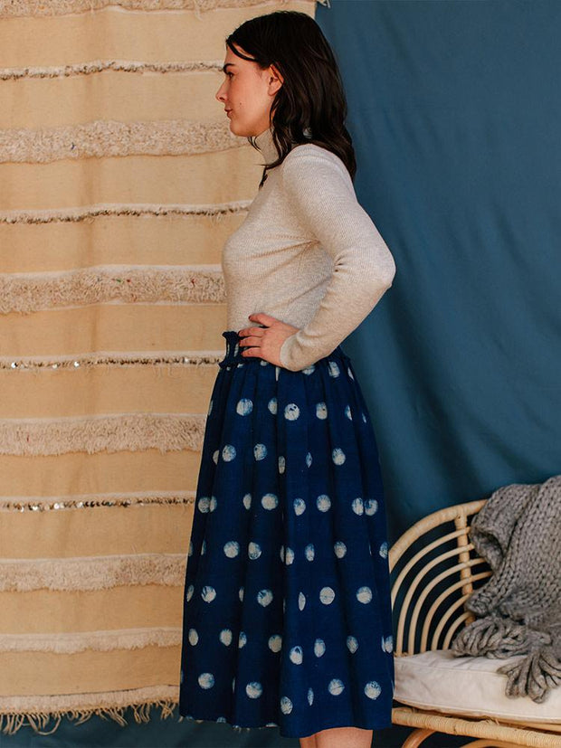 Shimla Smocked Skirt Full Moon