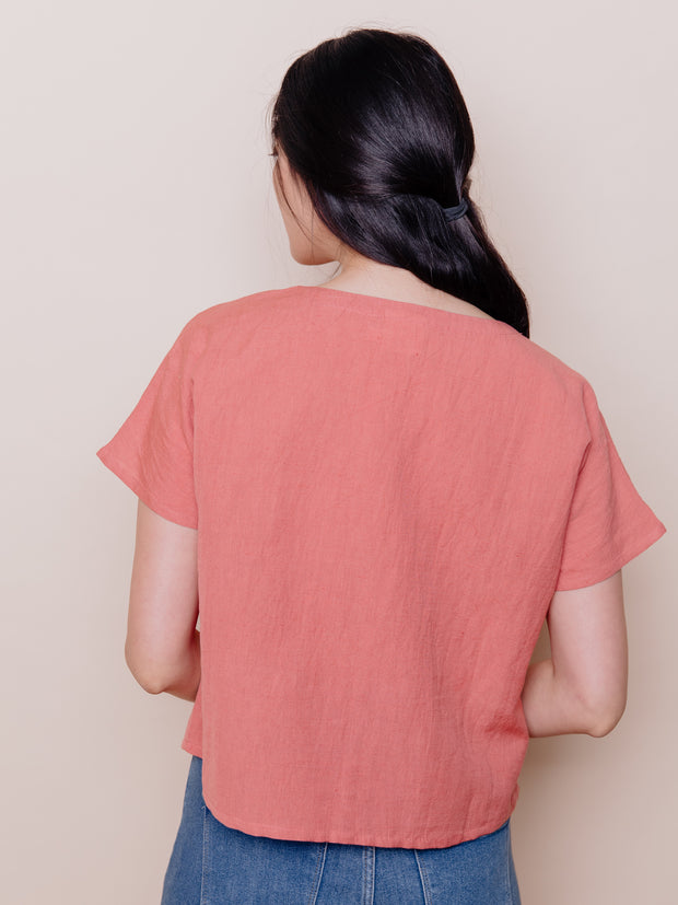 Odelia Top Rose Linen