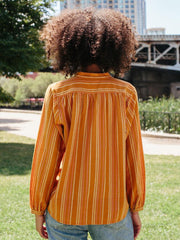 Balloon Sleeve Top Rust