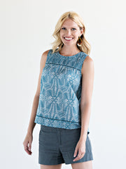 Maisie Trim Top Blue