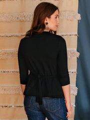 Midtown Long Sleeve Top Black Jersey
