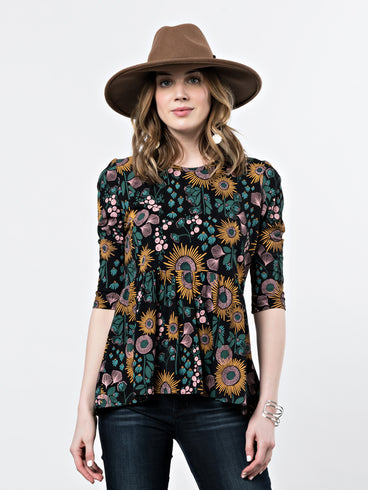 Paloma Top Black Floral