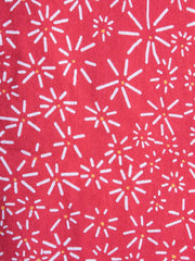 Prim and Pleat Top Red Daisy