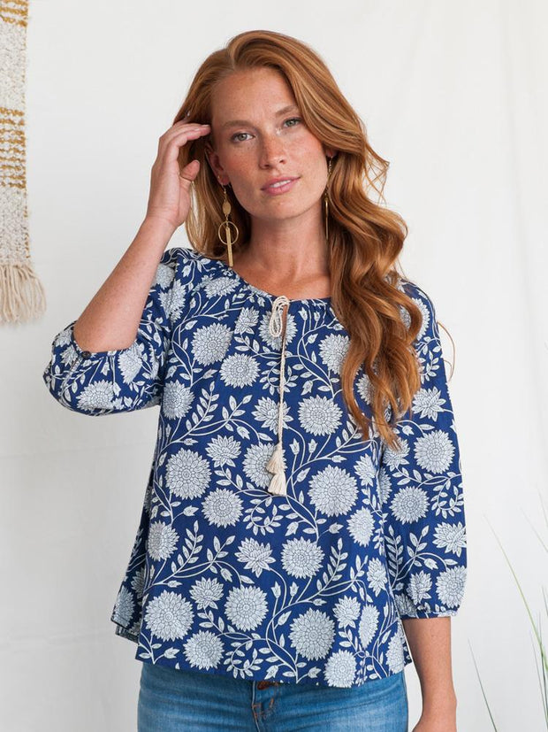 Tulum Tassel Top Imperial Blue