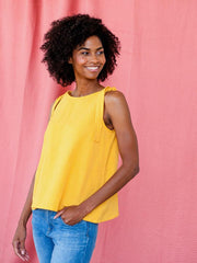 Two Way Tank Yellow Linen