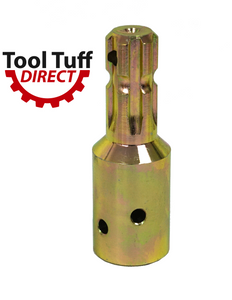 "PTO Reducer / adaptor 1-3/8"" x 6 Spline Female end, 1-1/8"" x 6 Spline Male End"