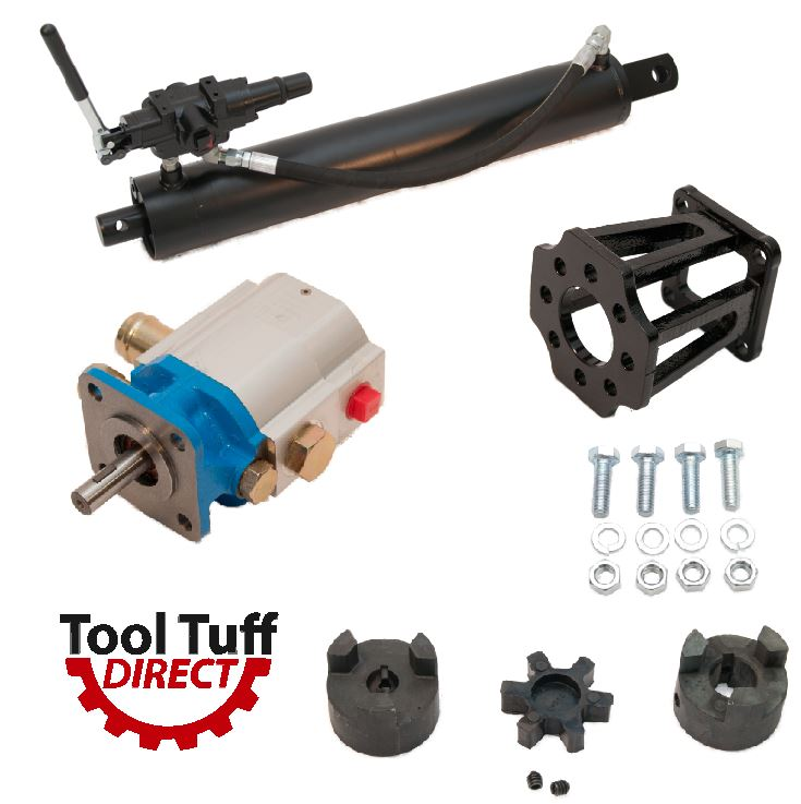 "Log Splitter Build Kit, 16 GPM Pump, 4"" Cylinder, Auto-Ret Valve, Mount Coupler"