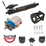 "Tool Tuff Log Splitter Build Kit, 11 GPM Pump, 4"" Cylinder, Auto-Ret Valve, Mount Coupler"