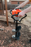 Tool-Tuff  Gas Powered 1-Person-Operated Post Hole Digger Head, 43cc / 1.75 hp Easy-Starting Two Stroke Engine (Digger Head only!)