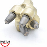 Tool Tuff Earth Ogre Replacement Industrial-Duty Rock Auger Tip, 4 Carbide Bullet Teeth & Housing