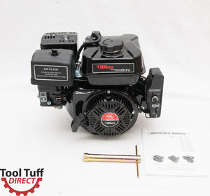 NEW! Tool Tuff 6.5 hp, 196cc, Electric Start, 4-Stroke Gasoline Engine - Easy-Starting Even in Cold Weather, Reliable