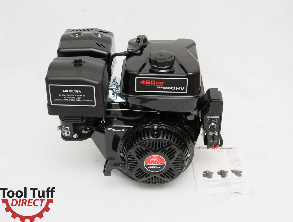 NEW! Tool Tuff 15 hp, 420cc Electric Start 4-Stroke Gasoline Engine - Starts Even in COLD Weather