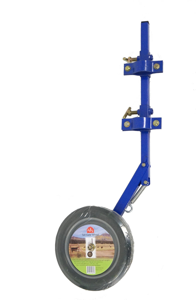 AgKnx Tall Gate Wheel - Spring Loaded Height Auto-Adjust for Gates w/ High Ground Clearance