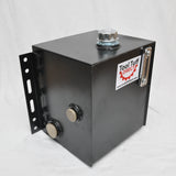 Tool-Tuff 15-Gallon Hydraulic Fluid Reservoir Tank, Vertical-Mount, w/Temp Gauge, Sight-Gauge & Breather/Strainer Fill Cap