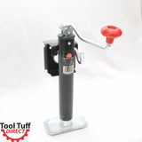 "2000 lb, 10"" Lift Range, Flange Mount Top-Wind Trailer Jack w/Foot Plate"