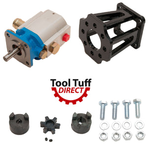 "Log Splitter Build Kit:  11 GPM Pump, LO75 Coupler, Pump Mount, Bolts, For Replacement or ""Build it Yourself"""