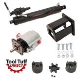 "Tool Tuff Log Splitter Build Kit, 13 GPM Pump, 4"" Cylinder, Auto-Ret Valve, Mount LO90 Coupler for 1"" Engine Shafts"