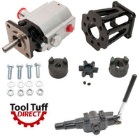 Log Splitter Build Kit: 13 GPM Pump, Mount, A7 Auto-Return Valve, Bolts, Coupler - Use as Replacement or for