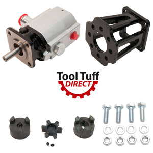 "Log Splitter Build Kit 13 GPM Pump, Coupler, Mount, Bolts, For Replacement or ""Build it Yourself"""