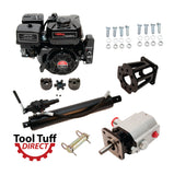 "Tool Tuff Log Splitter Build Kit: 6.5 hp Electric Start Engine, 13 GPM Pump, Auto-Return Valve, 4.5"" Welded Cylinder, Mount & Bolts - For DIY Build or Repair!"