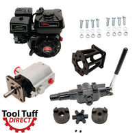 Tool Tuff Log Splitter Build Kit: 6.5 hp EZ-Start Engine, 13 GPM Pump, Auto-Return Valve, Mount & Bolts - For DIY Build or Repair!