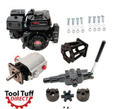 Tool Tuff Log Splitter Build Kit: 6.5 hp Electric Start Engine, 13 GPM Pump, Auto-Return Valve, Mount & Bolts - For DIY Build or Repair!