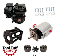 Tool Tuff Log Splitter Build Kit: 6.5 hp EZ-Start Engine, 13 GPM Pump, Mount, Bolts, Coupler - For DIY or Repair!
