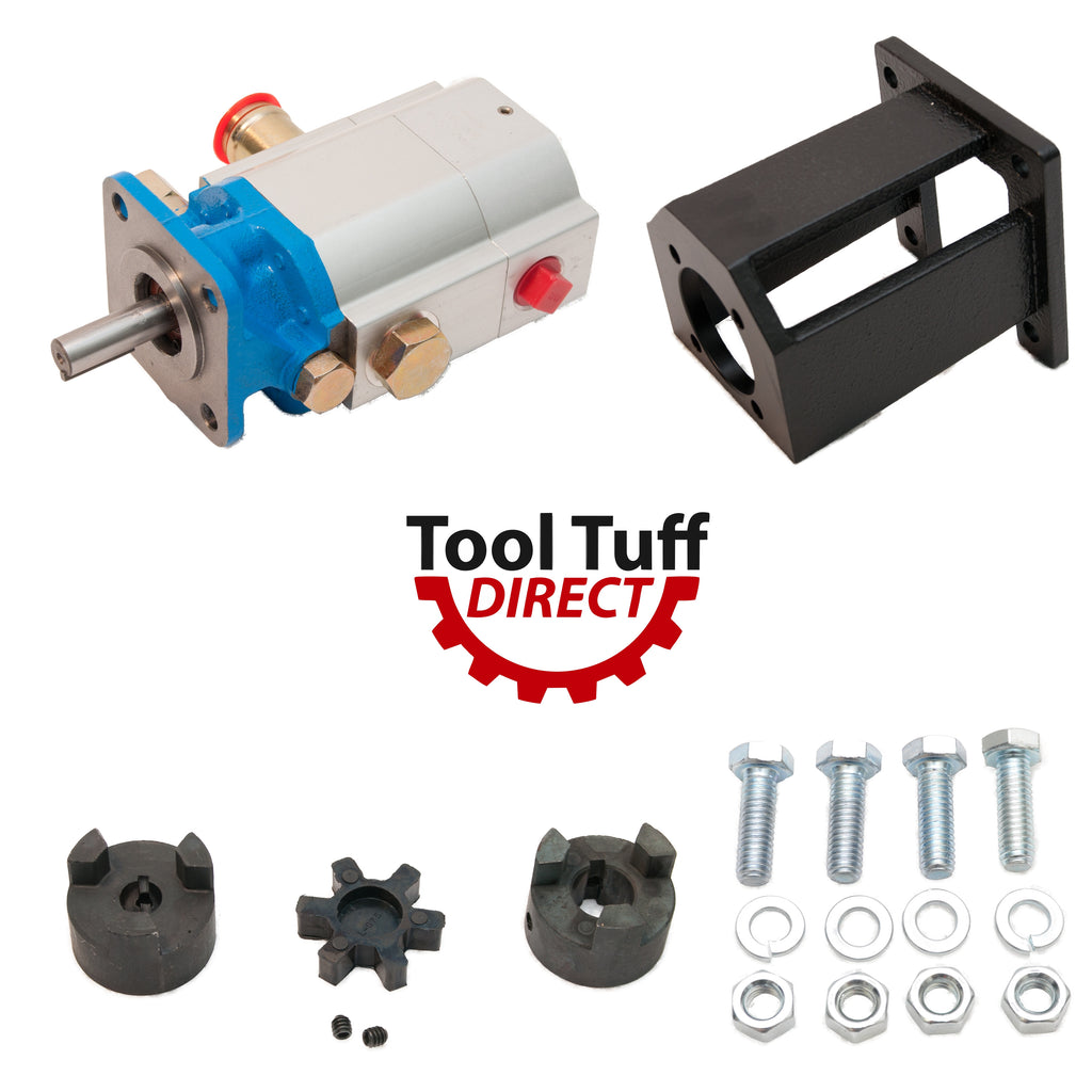 "Log Splitter Build Kit: 16 GPM Pump, Coupler, Mount, Bolts, For Huskee, Speeco, etc Replacement or ""Build it Yourself"""