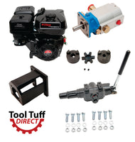 Tool Tuff Log Splitter Build Kit: Elec Start 9 hp Engine, 16 GPM Pump, Detent Valve, Mount & Bolts - For DIY Build or Repair!