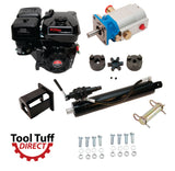 "Tool Tuff Log Splitter Build Kit: Electric Start 9 hp Engine, 16 GPM Pump, Detent Valve, Mount, Bolts, 4"" Welded Cylinder & Fittings"