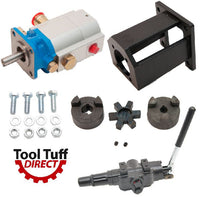 Log Splitter Build Kit: 16 GPM Pump, Mount, A7 Auto Return Valve, Bolts, Coupler - For Replacement or